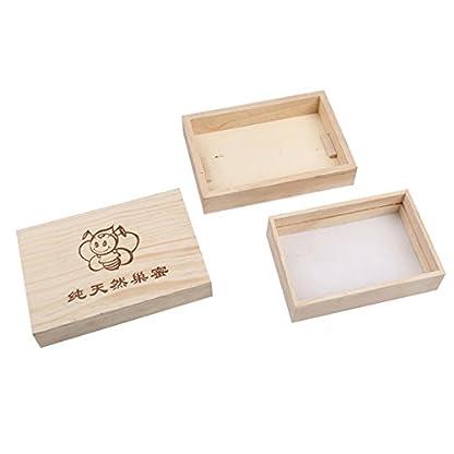 250g Wooden Bee Honey Cassette Box Beekeeping Equipment 3