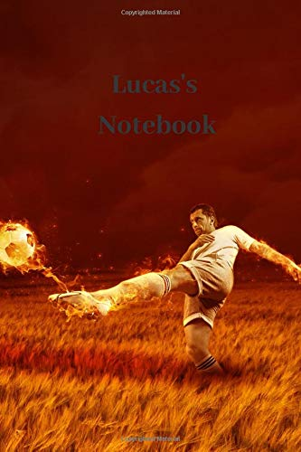 Lucas's Notebook: Personalised Football Cover Notebook | 160 Ruled Pages | 6x9 Journal | Paperback Diary | Glossy Finish por Nikki J Dalby