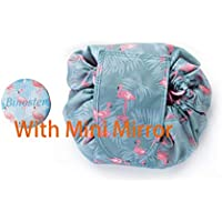 Coulisse per borsa da toilette Lazy Makeup di grande capacità portatile da viaggio impermeabile confezione rapida Borsa di trucco Magic Makeup perfetto per le donne ragazze (Fenicottero)