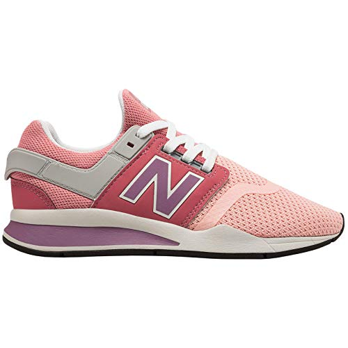 Sneaker New Balance New Balance KL247 KL247HWG Textile Youth Trainers - Himalayan Pink White - 40