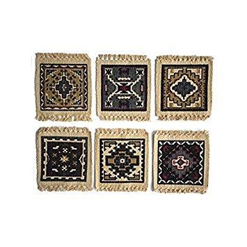 SB Co Schablone 15,2x 15,2cm Baumwolle Untersetzer Set Southwest Tapestry - Log Cabin Lodge Dekor
