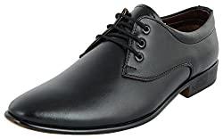 Shoeadda Mens Black Derby Shoes - 7 UK