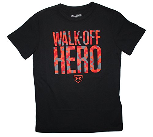 Jungen geladen Baumwolle lose Fit Walk-Off Hero T-Shirt Medium (T-shirt Walk Off)