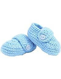 Fulltime (TM)–Cuna ganchillo Casual bebé hecha a mano de punto calcetín infantil Zapatos de bebé 0–1años