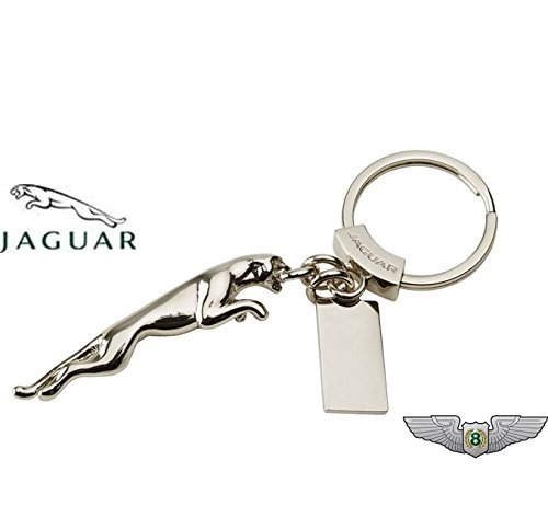 jaguar-nouveau-authentique-leaper-porte-cle-porte-cles-plaque-50jjclleapksp-argent