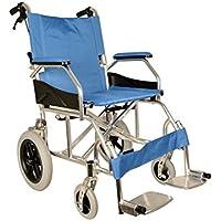 GIMA Aluminium Queen Rollstuhl hellblauer Sitz 46 cm, ultraleichter Rollstuhl nur 9,5 kg
