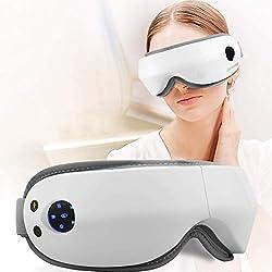 ZEROVIDA Appareil Sommeil Masque de Nuit/Sommeil Anti Bruit Sommeil &Cernes Yeux Masque Yeux Massant Chauffant Masque de Relaxation Appareil pour Sommeil Avec Pression de l'Air Musique Bluetooth USB