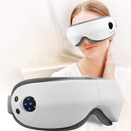 ZEROVIDA Masajeador de Ojos Eye Massager Electric Masajeador Electrónico Plegable Recargable con Calefacción Presión del Aire Vibración para Relajarse Visión Ojo Oscuro Círculos Estrés Alivio