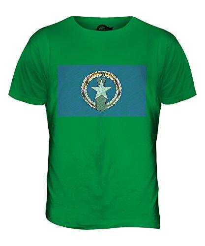 CandyMix Nördliche Marianen Kritzelte Flagge Herren T Shirt Grün