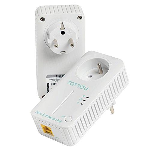 Tattou ZERO Emission Set PLC PowerLine-netwerkadapter 555302, set von 2 -