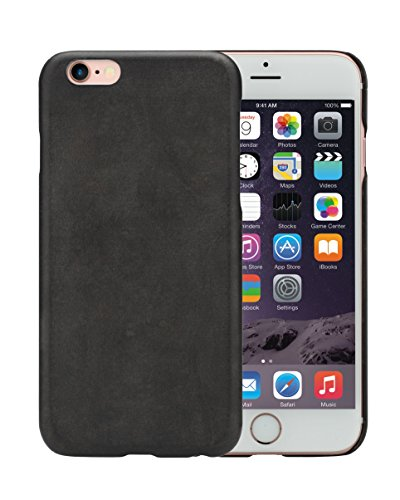 PITAKA iPhone 6 Plus / iPhone 6s Plus Coque avec protections d'écran Ultra Mince 5.5 pouces Bois Coque (Santos Wood) Ronce Noire