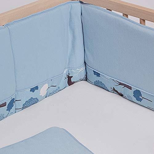 Coussin de pare-chocs pour lit de bébé respirant et confortable pour berceaux standard Doublure rembourrée pour lit de bébé lavable à la machine, 100% polyester de microfibre souple
