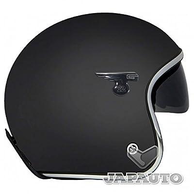 GPA CARBON SOLAR - Casque Jet moto/scooter Noir Mat