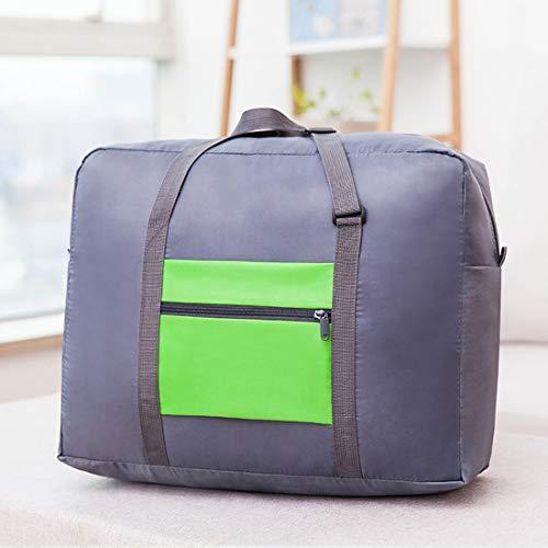 Ysprings Faltbare Reise Seesack Leichte Aufbewahrung Gepäcktasche wasserdichte Reise Handtasche Schultertasche Organizer Taschen für Reisen Sport Gym (Color : Green) -