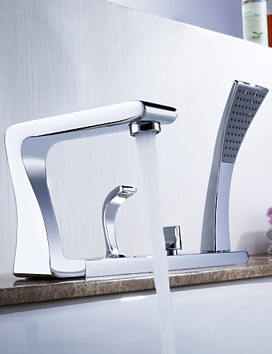 KISSRAIN® da Lightinthebox - in ottone massiccio contemporanea vasca rubinetto finitura cromata