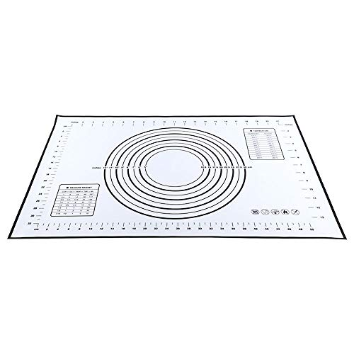 CHOULI Non-Stick Silicone Baking Mat Pad Sheet Super Thick Baking Rolling Dough Pad Black 40 * 60cm Non-stick Sheet