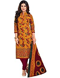 cdfcd982b311e6 Amazon.in: Cotton - Yellow / Dress Material / Ethnic Wear: Clothing ...
