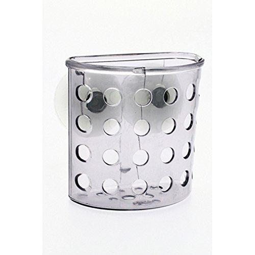 Porte brosse à dent de salle de bain avec ventouses Pebble Gris transparent
