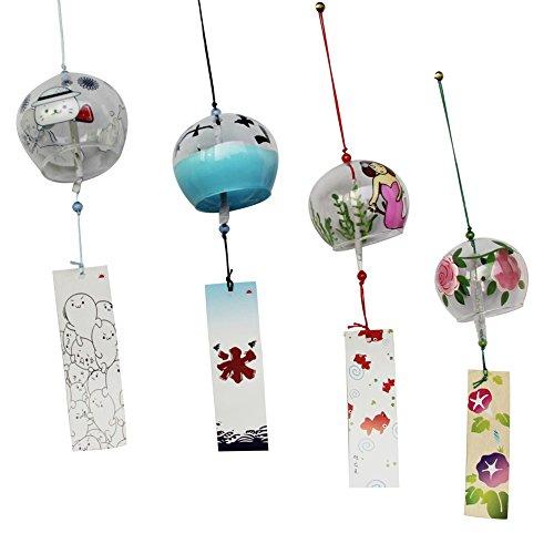 Viento, Viento campanas hecho a mano de cristal regalo de cumpleaños regalo de Navidad decoración. Viento, Estilo Japonés