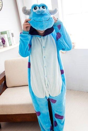 COHO Unisex Kostüm Sulley, als Pyjama oder Verkleidung verwendbar, für Erwachsene geeignet, Kigurumi-Stil X-Large (181-190 (Kostüme Erwachsene Diy)