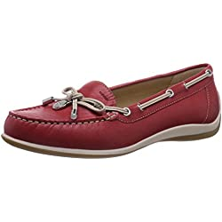 Geox D Yuki A - Mocasines para mujer, color redc 7000, talla 36