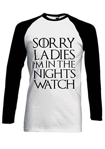 PatPat Store Sorry Ladies I`m In The Nights Watch Novelty Black White Men 658895a1a