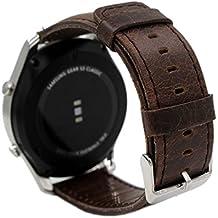 24mm Pulsera de Repuesto Pinhen 24mm Reloj de Correa de Reemplazo de la Correa para Sony Smartwatch 2 SW2 (24mm Coffee)