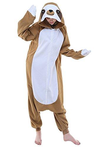 SAMGU Adulto Unisex Kigurumi Pigiama Cosplay Animale Partito Costume Marrone