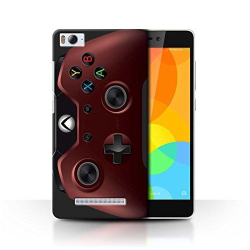 Stuff4 Hülle / Case für Xiaomi Mi 4i / Rot Muster / Videogamer/Xbox One Kollektion