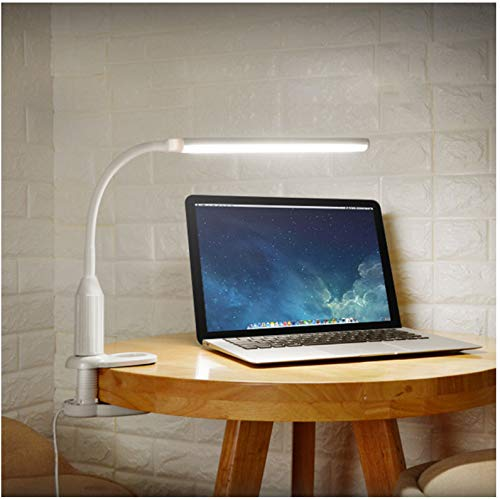 Table lamp LED protective glasses pliers clip light stepless dimmable bendable USB powered touch sensor control