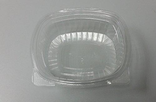 Vaschette ovali - cc 750 - maxi scorta di 300 vaschette trasparenti usa e getta con coperchio unito