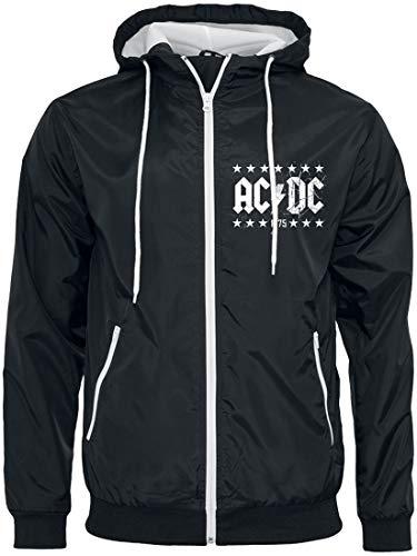 Générique AC/DC T.N.T. 1975 Coupe-Vent Noir/Blanc