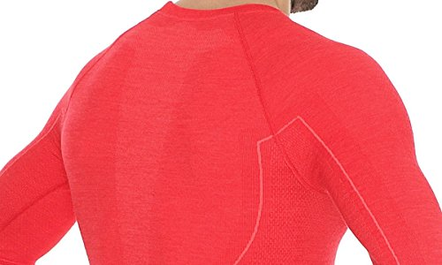 41EUB6%2BHxdL - Brubeck Functional Long Sleve Shirt For Men, LS12820, Active Wool