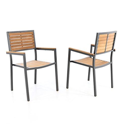 Gartenstühle holz stapelbar  Nexos Trading 2er Set Gartenstuhl Stapelstuhl Holzstuhl ...