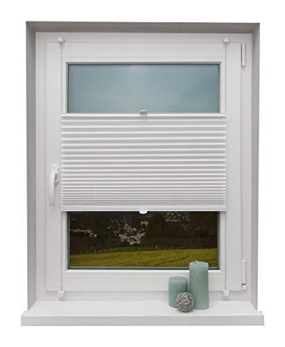 Beyond Drape Plissee Weiß 60x220 cm verspannt ohne Bohren Klemmträger bis 27mm Fertigplissee Sichtschutz