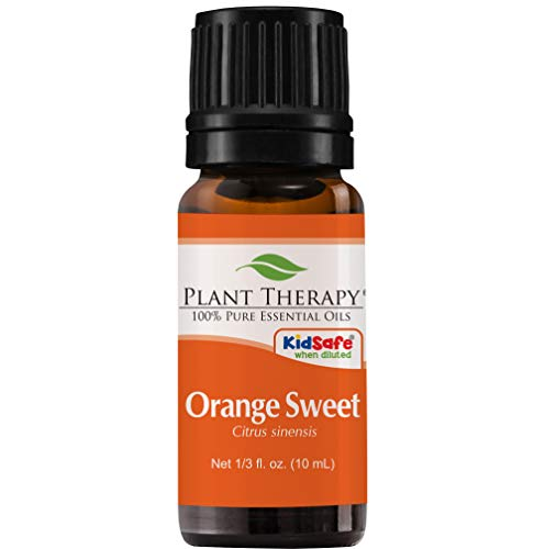 Organic Sweet Orange Essential Oil. 10 ml. 100% Pure, Undiluted, Therapeutic Grade. by Plant Therapy Essential Oils