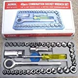 SAYSHA Socket Set Iron Hand Tool Kit (Grey) -40 Pieces
