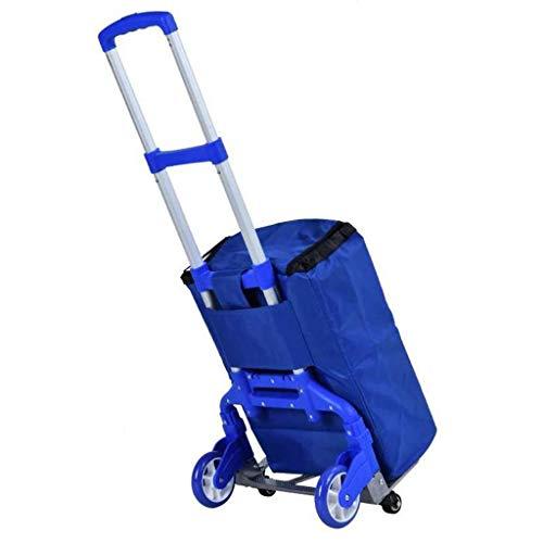 Trolley-Taschenwagen, Kleiner Wagen Faltbarer tragbarer Trolley Home Shopping Gepäckabfertigung Car-9-9 (Farbe: A) (Farbe : B)