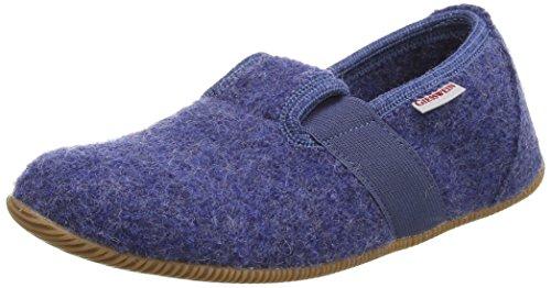 Giesswein Weidach, Chaussons courts, non doublées garçon Bleu (527 Jeans)