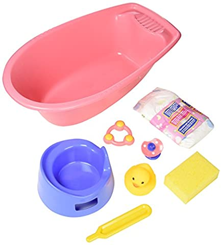 Heless 914Heless 40.5 x 23 x 13 cm Bathtub Set for Doll