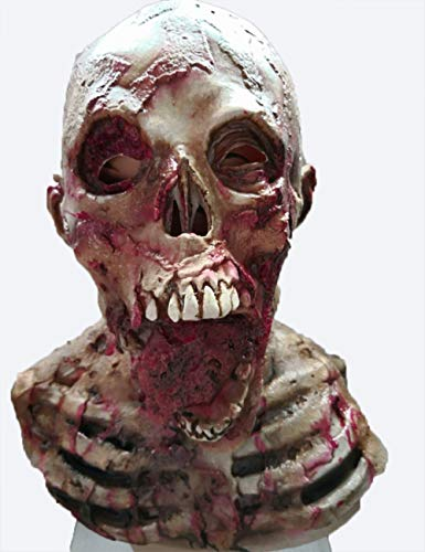 HLLPG Halloween Latex Schädel Scary Maske Neuheit Cosplay Kostüm Party Horror Maske Zombie Maske Anzug Für Halloween