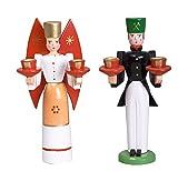 Weihnachtsfiguren Engel und Bergmann(Flügel rot) Höhe ca 15 cm NEU Holzengel Weihnachtsengel