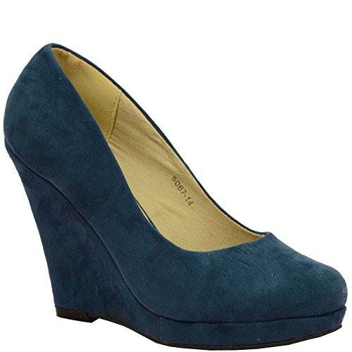 Cucu Fashion , Sandales Compensées femme Bleu - bleu
