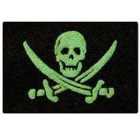 Glow in Dark Pirate Flag Military Morale Applique Fastener Hook & Loop Patch