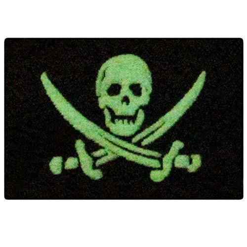 Glow in Dark Pirat Flagge Military Moral Aufnäher Verschluss Haken & Schleife Patch