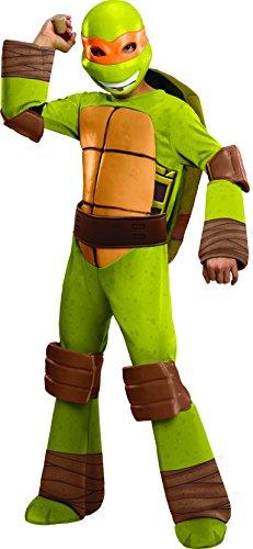 Kostüm Michelangelo - Michelangelo Kinderkostüm Größe 98-104, 3-4 Jahre, Ninja Turtles