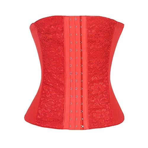 ainer Corsage Taille Shaper Frauen Latex Taille Trainer Body Shaper Einstellbare Bauchkontrolle Schweiß Gewichtsverlust Sanduhr Cincher Gürtel (Color : Red, Size : XXXL) ()