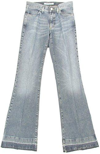 """FORNARINA \""""70er Hippie Vintage Retro\"""" Damen Schlaghosen Jeans Used-LookDenim (Blau)"""