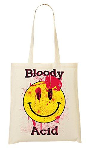 Bloody Acid Smiley Techno Roland TB 303 Tragetasche Einkaufstasche