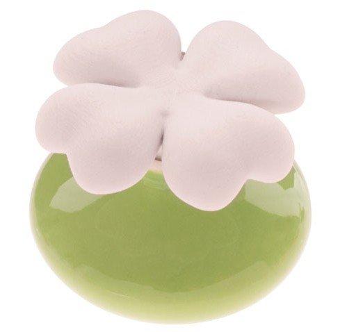 Millefiori milano lovely quadifoglio verde + ricarica 50 ml profumatore ambiente bomboniere diffusore tappo gesso (fragranza a scelta tra le 3 disponibili)